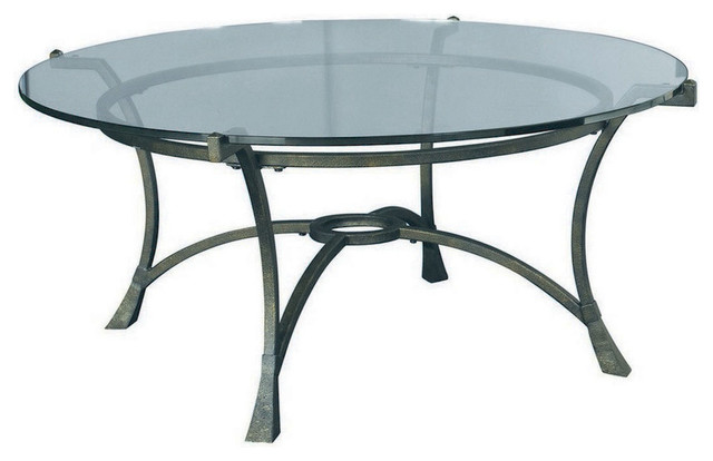 Hammary Sutton Round Cocktail Table Traditional Coffee Tables