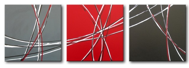"Darco Arte ""schizzi 417"" Painting, 20""x61""."