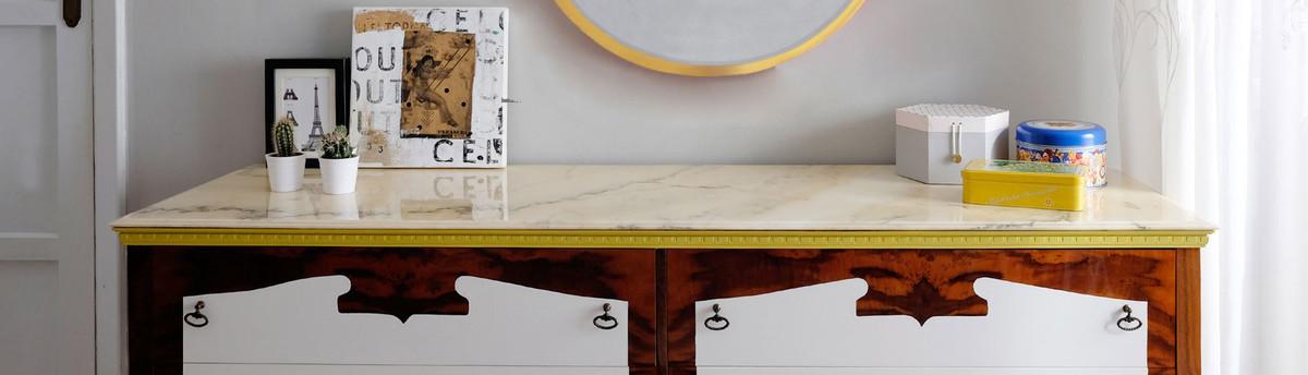 Diy tavolo in legno rivestito con piastrelle di ceramica - Tavolo con piastrelle ...