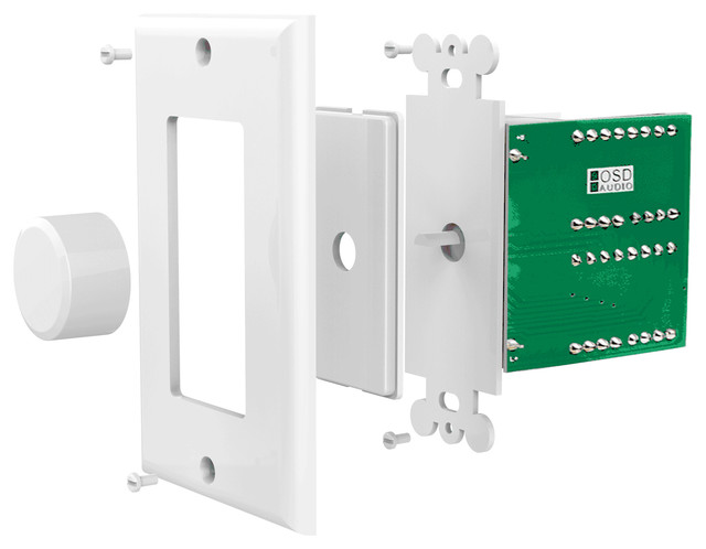 SVC100 100W Impedance Matching Decora Rotary Knob In-Wall Volume Control Kit