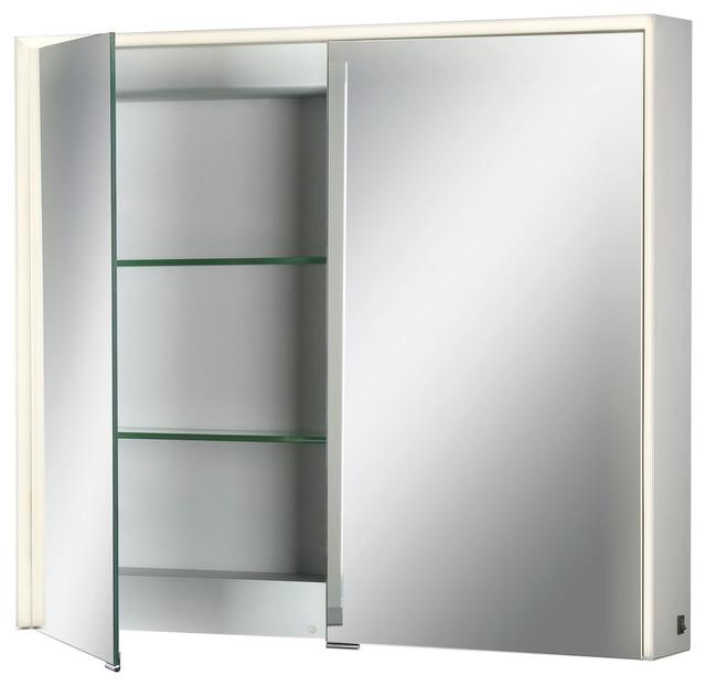 Eurofase Edge-Lit Led Mirror Double Door Cabinet.