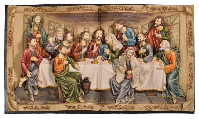 """19.75""""h Last Supper Hanging."""