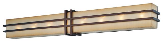 Underscore 8-Light Bathroom Vanity Light, Cimmaron Bronze