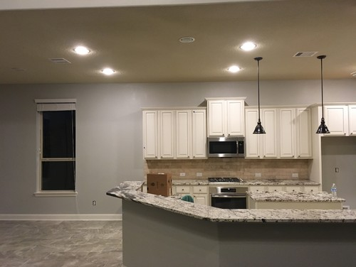 Gray Kitchen Cabinets And Yellow Walls