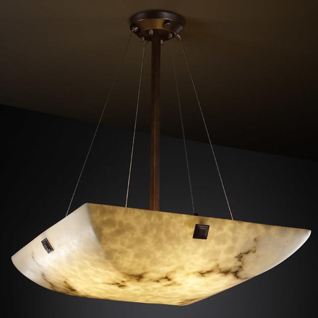 Lumen Aria 3-Light Pendant In Dark Bronze.