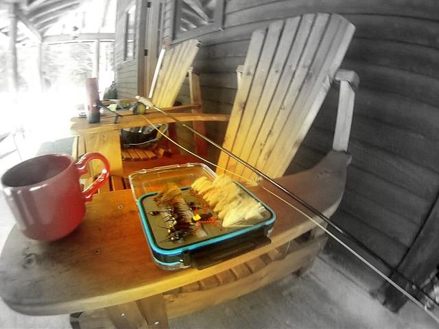 Adirondack camp craftsman new york for Idee di veranda posteriore per case in stile ranch