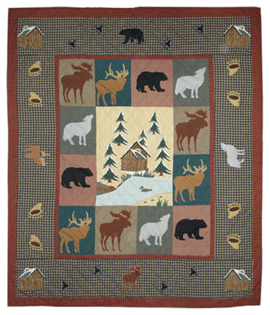 Winter Trails Quilt Queen 85 Quot X95 Quot Rustic Quilts And