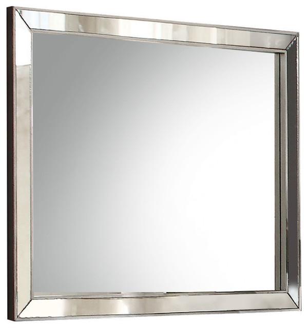 Voeville Ii Mirror, Platinum.