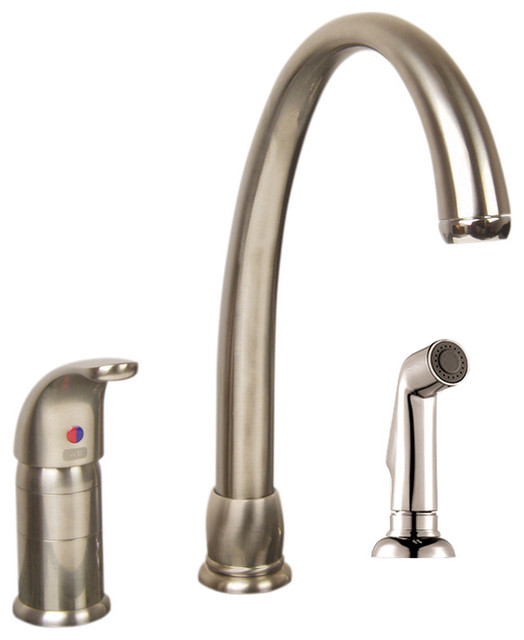Sarana Single Handle High-Arc Kitchen Faucet With Side Spray, Brushed Nickel