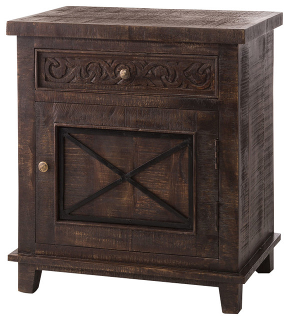 Pavia 1-Drawer 1 X-Door Cabinet - Asian - Pantry Cabinets - by ...