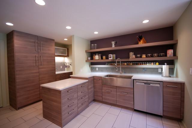 IKEA kitchen cabinets with custom doors - Modern - Kitchen ...