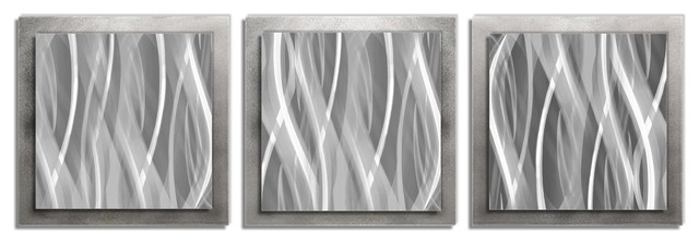 Metallic Essence, Minimalist Metal Wall Decor, Contemporary Style.
