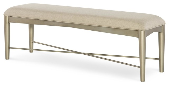 Rachael Ray Home Soho Upholstered Bench, Ash 6020-4800 Promo.