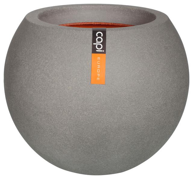 Tutch Round Plant Pot, Grey, Large