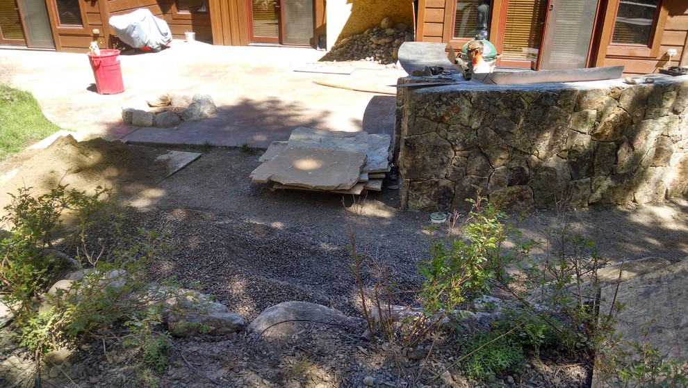 The creation of a flagstone path
