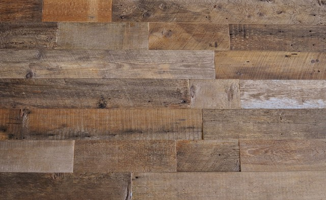 Rustic Wood Paneling For Walls : Reclaimed wood wall paneling brown quot wide sq ft