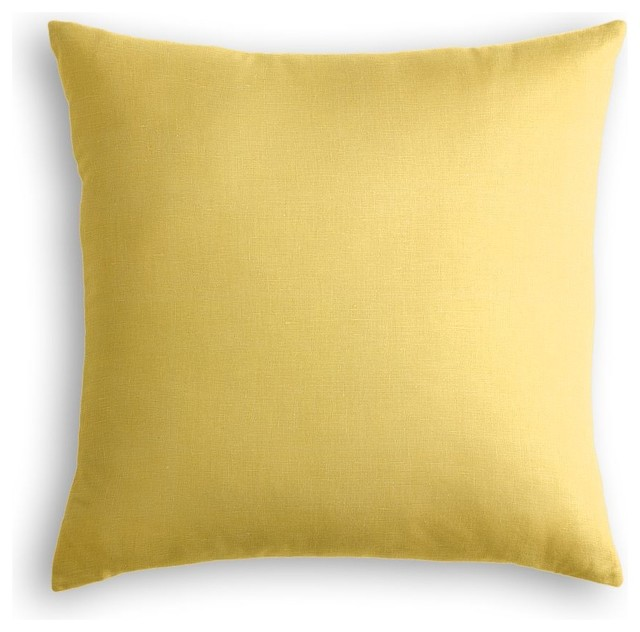 Yellow Linen Throw Pillow : Loom Decor Lightweight Yellow Linen Throw Pillow - Decorative Pillows Houzz