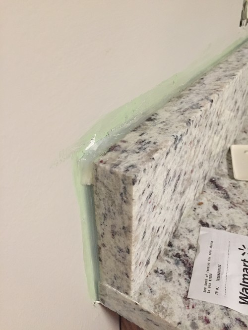 Painting backsplash and that caulk silicone by the granite - Silicone paint for exterior walls ...