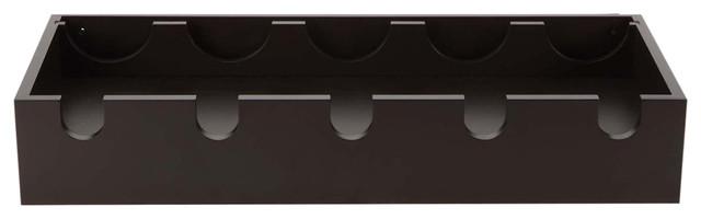Ellington 23.75x10 Wine Rack And Glass Holder - Black.