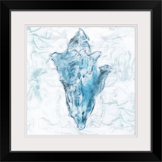 Blue Marble Coast Shell Black Framed Art Print Beach Style Prints And Posters By Great Big Canvas