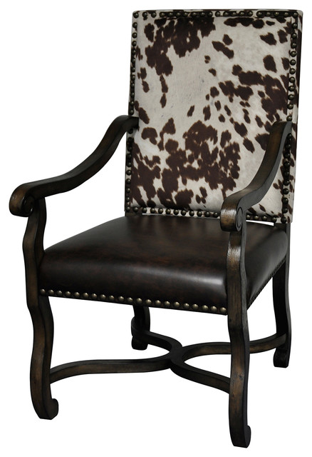 Crestview  Mesquite Ranch Leather and Faux Cowhide