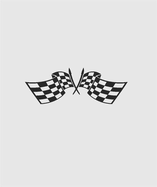Checkered Racing Flag Mens Decal 8x16 Quot Wall Decals By