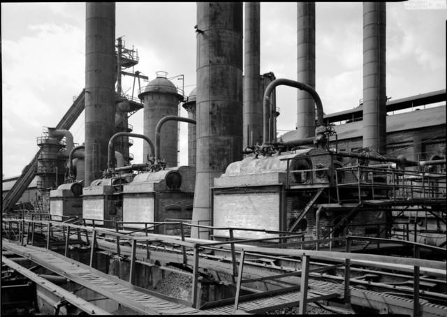 Steel Plant, General View of Boiler Units Birmingham, Alabama Print