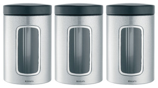 Brabantia Window Canister, Set Of 3   Modern   Kitchen Canisters And Jars    By DaSallau0027s