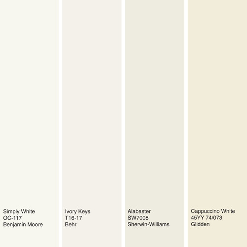 Benjamin Moore And Glidden Have Made Off White Hues Their Color Of The Year For 2016 While Sherwin Williams Behr Are Each Showing An In