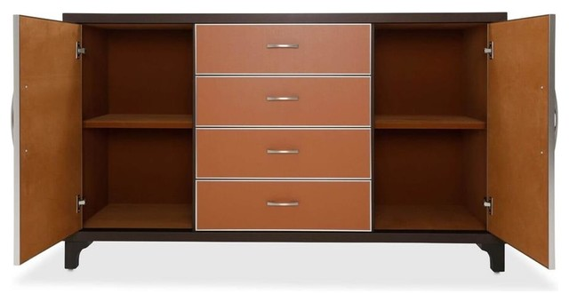 Aico Amini 21 Cosmopolitan Dresser In Orange.