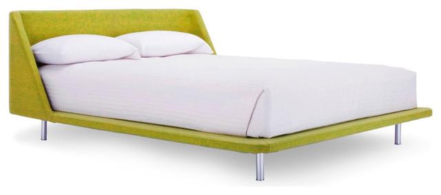 blu dot nook full bed guacamole modern platform beds - Modern Full Bed Frame