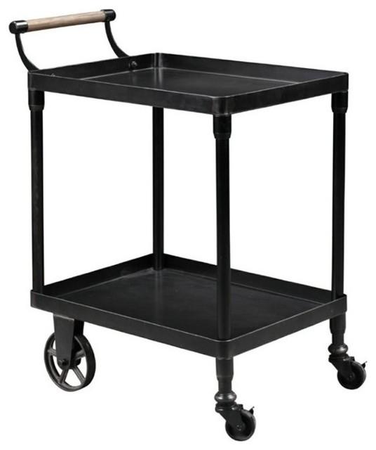 Industrial Bar Cart Bar Cart Kitchen Cart Serving Cart: Burnham Home Designs Serving Cart, Black