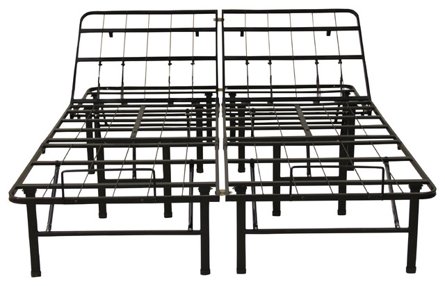 Hercules Adjustable 14 Heavy Duty Metal Bed Frame Mattress Foundation Twin Bed Frames By