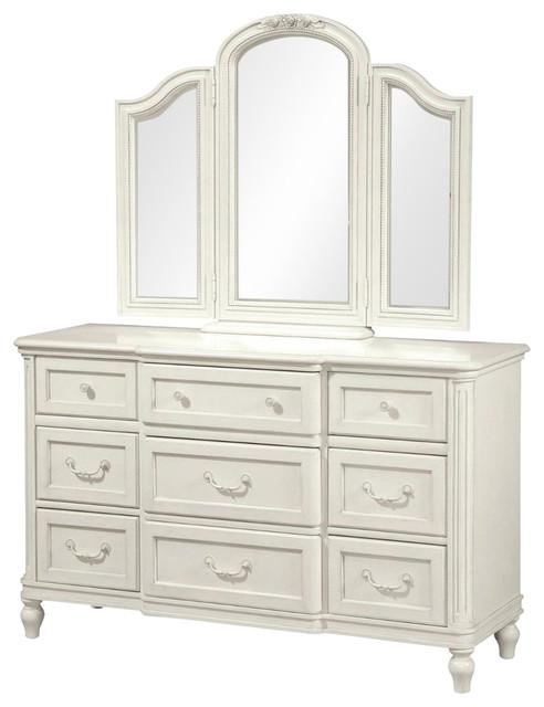 Universal Furniture Smartstuff Gabriella Dresser With Mirror White