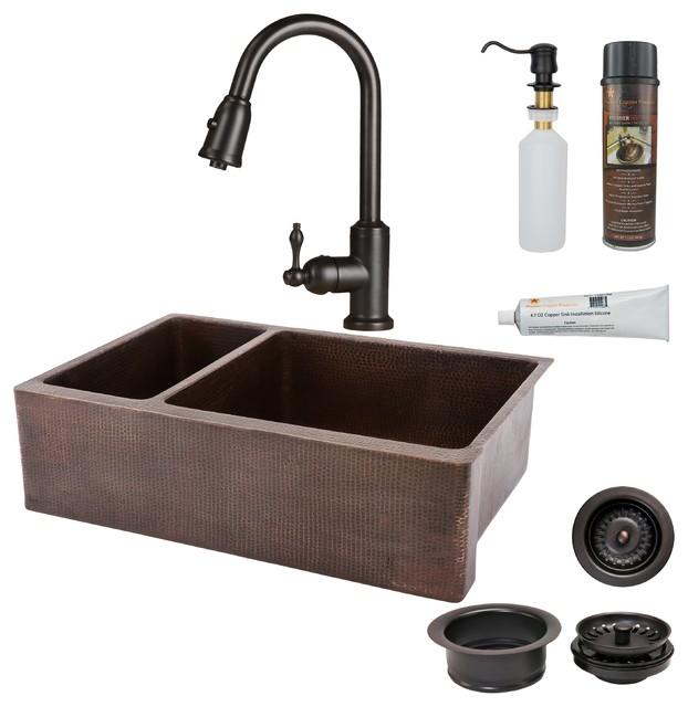 "3.5/"" Natural Copper Disposal Sink Drain"