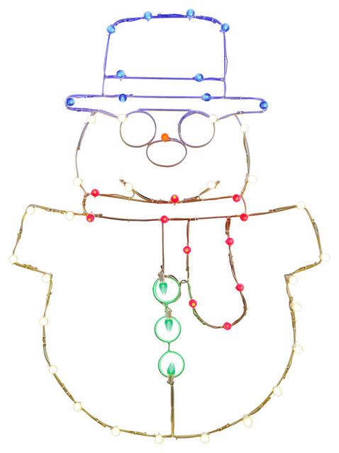 48x34 Led Snowman Wire Motif.