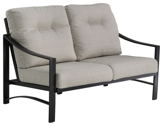 Kenzo Cushion Love Seat Snow Frame Transitional Outdoor Loveseats By Tropitone Furniture Co Inc