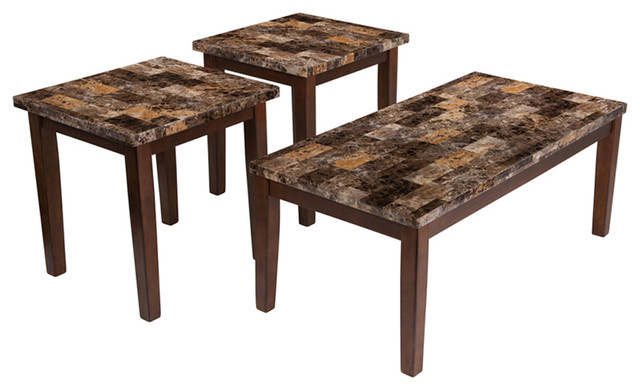 Theo 3 Piece Occasional Table Set  sc 1 st  Houzz & Living Room Table Set - Midcentury - Coffee Table Sets - by buynget1618