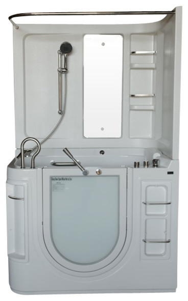 "51""x29"" Steam Planet Walk-In Ada Compliant Bathtub, Right, Soaker."