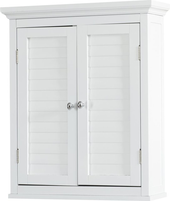 Double Door With Adjustable Interior Shelf Wall Mounted Cabinet.