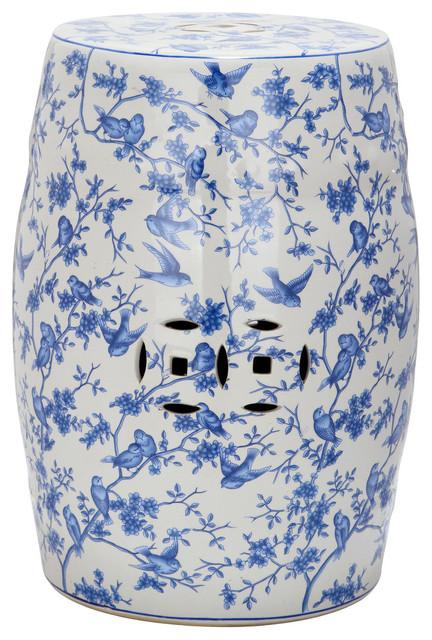 Blue Birds Garden Stool Asian Accent And Garden Stools by