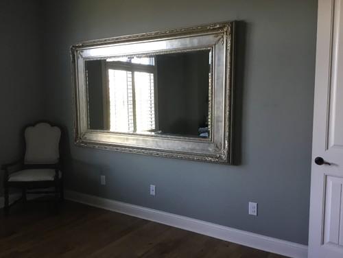Huge mirror not centered