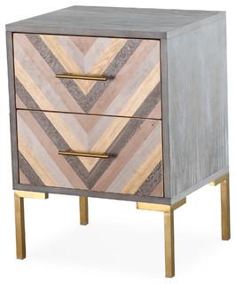 Quinn Side Table - Gray, Gold