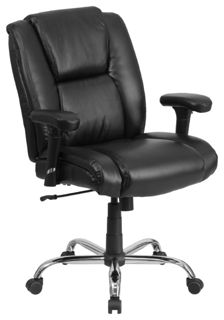 Ankor Leather Big &x27;n&x27; Tall Swivel Armchair, Black.