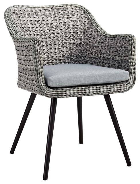 Stupendous Endeavor Outdoor Patio Wicker Rattan Dining Armchair Gray Gray Alphanode Cool Chair Designs And Ideas Alphanodeonline