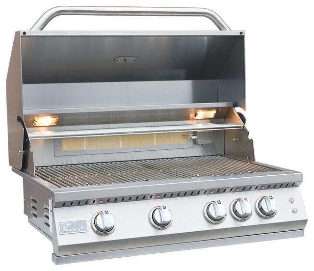 Kokomo Grills - Professional 4 Burner Built In Grill, Natural Gas.