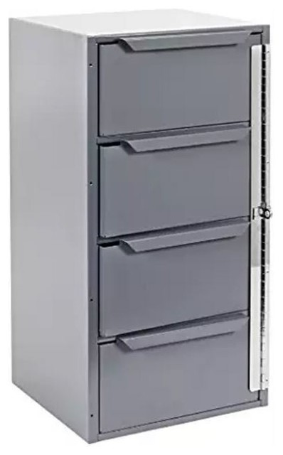 Durham Gray Welded Steel Cabinet, 4 Drawers