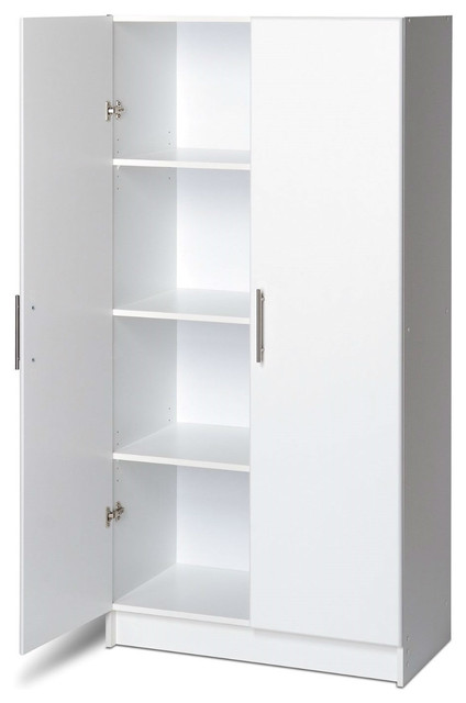Storage Cabinet Utility Garage Home Office Kitchen Bedroom, White  Contemporary Armoires And