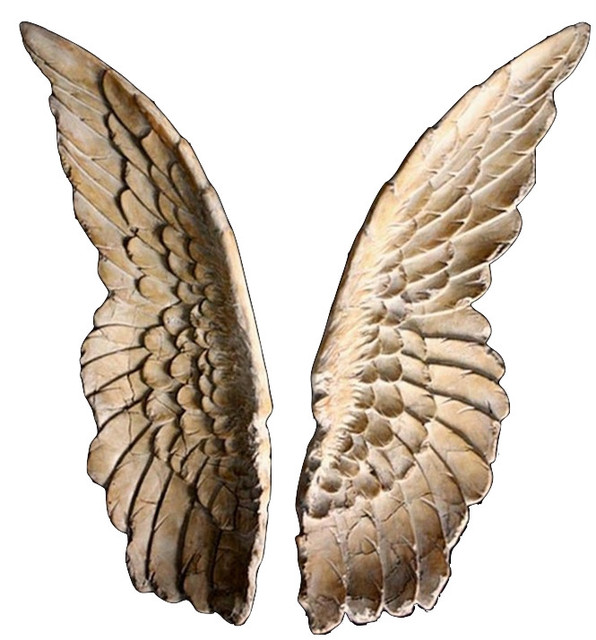Angel Wing Wall Decor Angel Wings Wall Sculpture   Set Of 2   Contemporary    Decorative