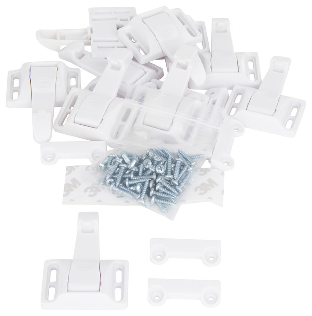 Spring Loaded Cabinet Safety Latch, Set of 10